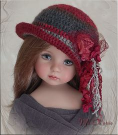 MA CHERIE Hat 4Effner Little Darling, Mini Fe, Ellowyne, Prudence, BJD by Linda