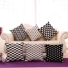 Reliable Nordic Geometry Cushion Cover High Quality Elegant Throw Pillow Cover Car Bedroom Sofa Home Decor Pillow Case 30x50cm 45x45cm Home & Garden Table & Sofa Linens