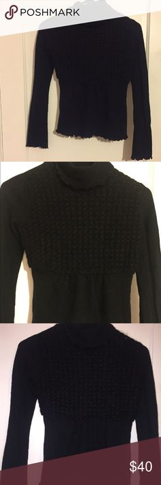Anthropologie-Turtle Neck&Bell Sleeve This sweater is in great condition- gently used! Offers encouraged !✨ Anthropologie Sweaters Cowl & Turtlenecks