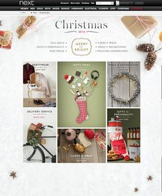 Christmas landing pages.