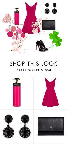 """""""Elegante"""" by megeller on Polyvore featuring moda, Prada, Karen Millen, Givenchy, Tory Burch e Clinique"""
