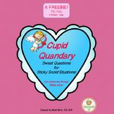 Cupid Quandary: Sweet Questions for Sticky Social Situations Goal Setting Activities, Thoughts And Feelings, Social Skills, Cupid, Problem Solving, Middle School, Valentines Day, Things To Come, Therapy Ideas