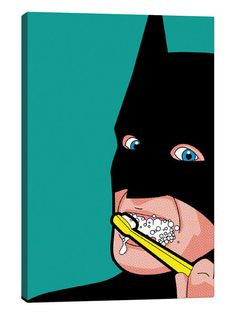 Bat-Brush by Greg Guillemin (Canvas) by iCanvas at Gilt