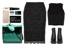 """""""Smaragd"""" by anna-lena-als ❤ liked on Polyvore featuring DAMIR DOMA, Lela Rose, Smashbox, Neon Hart, Butter London, River Island, Bobbi Brown Cosmetics and NARS Cosmetics"""