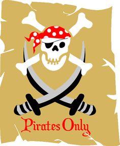 Pirates skull and crossbones mural
