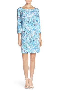 Lilly Pulitzer® 'Sophie' Print Jersey Shift Dress (UPF 50) available at #Nordstrom