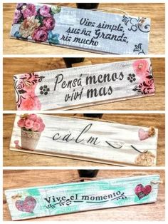 cuadros cuadritos carteles vintage decorativos Diy Tableau, Foto Transfer, Shabby Chic Crafts, Poster S, Decoupage Vintage, Original Gifts, Home Decor Signs, Boho Diy, Stencil Designs