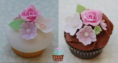 Rose and Blossom Cupcakes