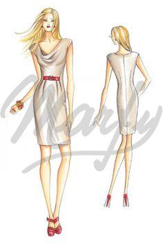 Model 3067 | Sewing Pattern Dress