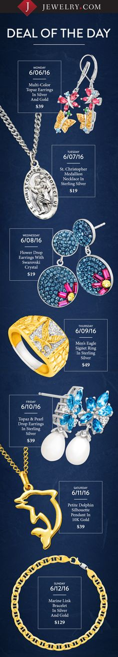 Father's day gifts and summer jewelry - check out this week's daily deals!