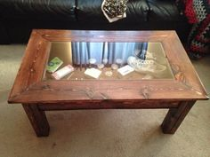 Decorative Rustic Transitional Liberte Round Accent Table Michele - Shadow box console table