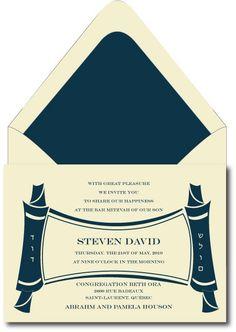Contemporary Torah Scroll – Bar Mitzvah Invitation