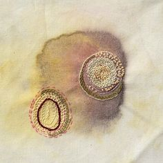 Jessica Steytler | From the Stain series, 2014 {acrylic paint and embroidery}