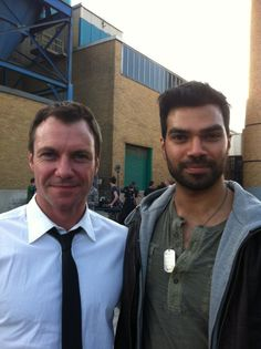 Chris Vance and RJ Parrish on the set of The Transporter the series.