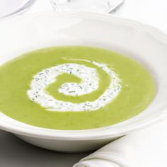 """If you haven't tried """"light"""" coconut milk, here's a tasty test for it. I think it's delicious! Garden-Fresh Asparagus Soup"""