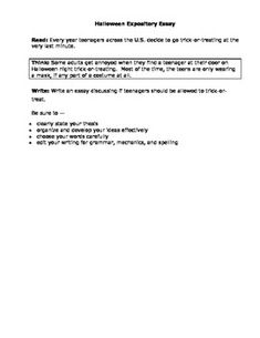 expository essay rubric for high school
