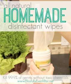 3 ingredient All Natural Homemade Disinfectant Wipes. Kills 99.9% of germs and are non-toxic/chemical free. #Homemade #Cleaning #HomemadeWipes #Natural #Wellness #health #Shaklee