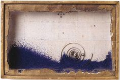 Surrealist Collage  (Joseph Cornell, Blue Sand Box)