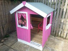 Playhouse made from pallets for our girls