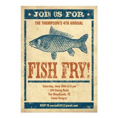 Fish Fry Party- Invitations. Love these! Just because Lent is such a solemn season, doesn't mean you have to suffer while you are abstaining from meat. Invite friends over and do it together.