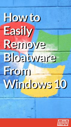 Windows 10 comes with its own set of pre-installed apps. Let's look at the methods you can use to remove the bloatware o. Windows 10 comes with its own set of pre-installed apps. Let's look at the methods you can use to remove the bloatware o. Technology Hacks, Computer Technology, Computer Science, Computer Programming, Medical Technology, Energy Technology, Deep Cleaning Tips, Cleaning Hacks, Windows 10 Hacks