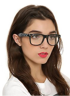 <p>Black retro style glasses frames with skull argyle printed arms and clear lenses.</p>  <ul> 	<li>UV400</li> 	<li>Plastic</li> 	<li>Imported</li> </ul>  <p> </p>