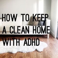 Do you find cleaning and organizing your home nearly impossible because of your ADHD or other mental health challenge? Me too! Over the years I've learned how to work with my challenges and keep my house tidy. Check out this post to learn how I do it! ADHD woman, ADHD mom, ADHD parent, ADHD strategy, home management, cleaning strategy