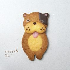 These cookies are made by a Japanese pastry shop called henteco . They can not be ordered on. Xmas Cookies, Cute Cookies, Gingerbread Cookies, Japanese Cookies, Cap Cake, Cinnamon Cookies, Edible Crafts, Cookie Box, Happy Foods