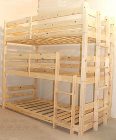 Pandora 3 Tier, three sleeper 2ft 6 Small single solid pine bunk bed