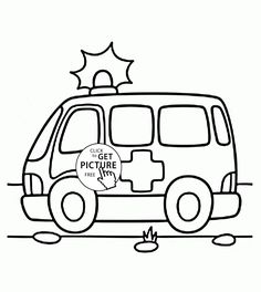 ambulance coloring page for kids transportation coloring pages printables free wuppsycom
