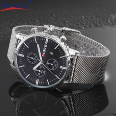 relogio masculino   North Calendar Quartz Wrist Watch Stainless Steel Bracelet Men Watch new design hot sale 2017 spring #Affiliate