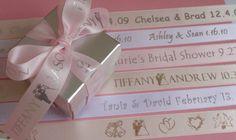 personalized ribbon favor