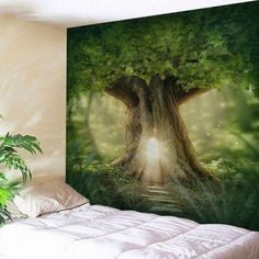 Photo Gallery - Home Decor Mew Big Tree Wall Hanging Tapestry Bohemian Wall Tapestry, Tapestry Wall Hanging, Vintage Wall Art, Vintage Walls, Flower Wall Decor, Wall Art Decor, Cheap Wall Tapestries, Affordable Home Decor, Tree Wall