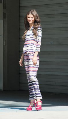EXCLUSIVE: Zendaya seen during a photo shoot to promote her upcoming movie Zapped in Los Angeles