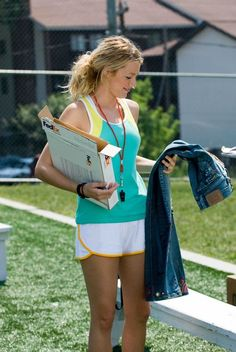 Bridget, another main character, is focused on soccer and her love life while holding the pants in this picture. #Sisterhood of the traveling pants.
