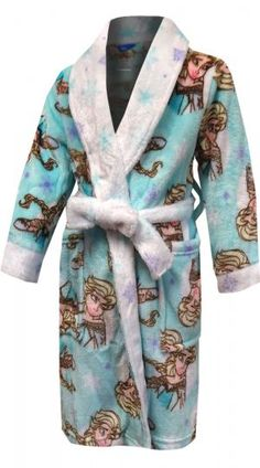 697df6e6db Disney Frozen Elsa the Ice Queen Blue Plush Robe