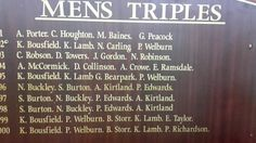 Dad often got his name on the boards at Morrisons Indoor Bowling club ..E Taylor ♡