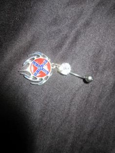 NEW* Free shipping* Tribal Rebel Flag Belly Button Ring Body Jewelry