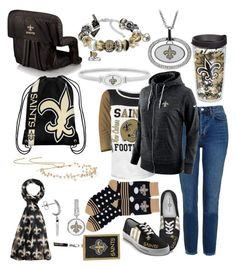 """WHO DAT!🏈"" by getsherlock on Polyvore featuring 5th & Ocean, Topshop, NIKE, Jennifer Behr, For Bare Feet, Tervis, The Bradford Exchange, Forever Collectibles and Picnic Time"