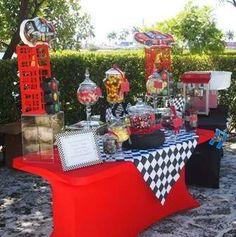 "Photo 14 of Race Car Theme / Birthday ""Boys Party"" Birthday Party Outfits, Cars Birthday Parties, Race Car Birthday, Birthday Boys, Birthday Ideas, Ferrari Party, Race Car Themes, Car Themed Parties, Hot Wheels Party"