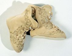 1889 French Cotton and Silk children's  Ensemble with matching boots