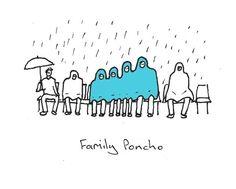 """Dominic Wilcox's """"Family Poncho""""."""