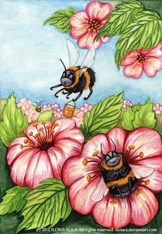 Lazy bumble bee by ~Ilona-S on deviantART