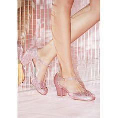 a4507ec25 B.A.I.T. Footwear Vintage Inspired Shimmer Down Now T-Strap Heel