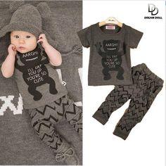 2015 Autumn Cartoon Elephant Cat Baby Clothing Set ( Long Sleeve Tops + Pants ) Baby Boy Girl Clothes free shipping