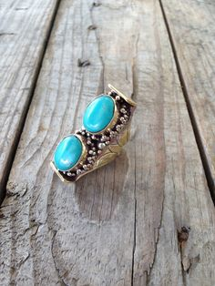Image of Double Turquoise Ring