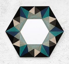 Emiliano Godoy; Stained Wood and Glass 'Nuna' Wall Mirror, 2014.