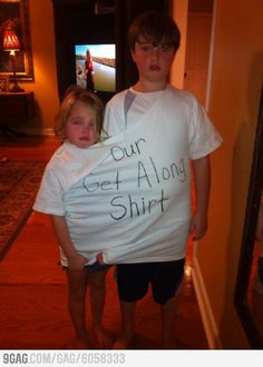 Our Get Along Shirt. Hehe! this is the best thing ever