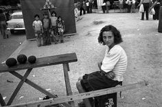 Game of cans, Viana do Castelo - Sometime in the 60's // Old Portugal - Josef Koudelka