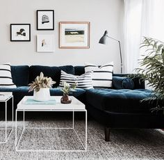 Sven Cascadia Blue Right Sectional Sofa Modern Sectional, Sectional Sofa, Condo Living, Living Room Decor, Dining Room, Pretty Things, High Quality Furniture, Interior Design, Centerpiece